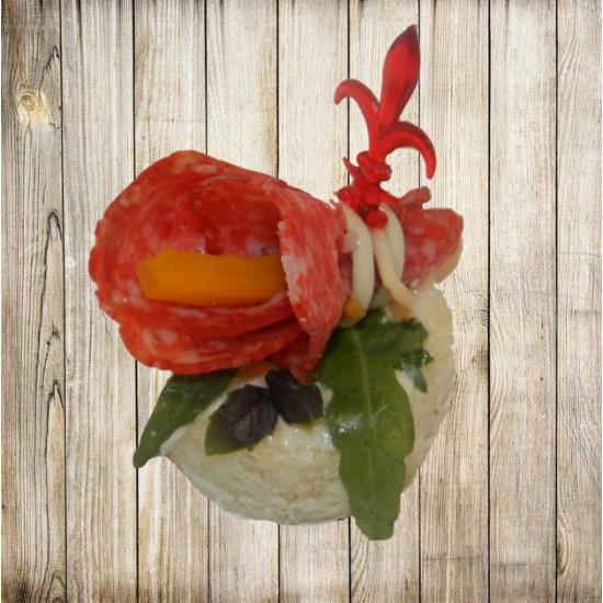 Канапе - Салями на белом хлебе