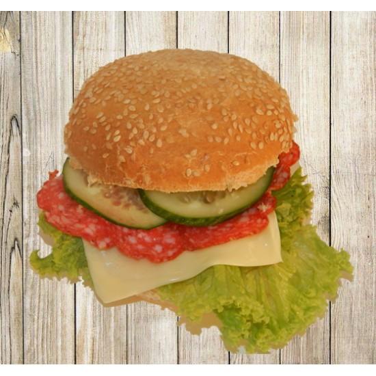 Гамбургер с салями