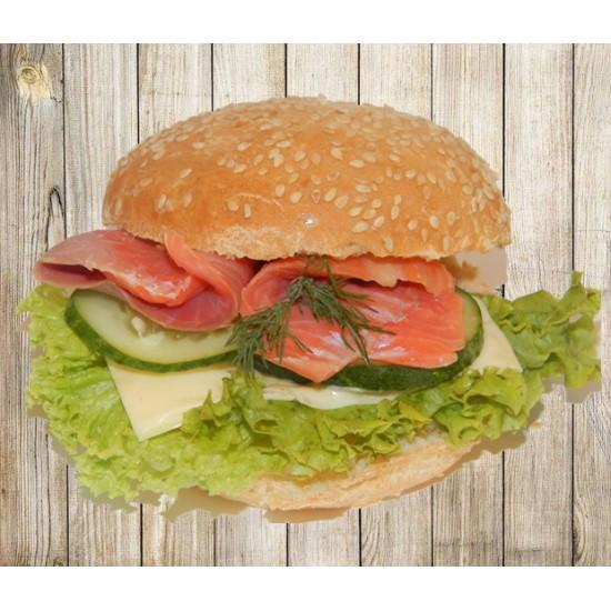 Гамбургер с семгой